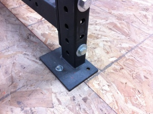Carriage Bolt in Rack Foot