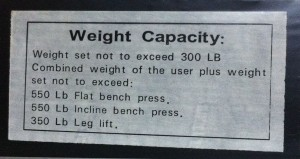 bench label