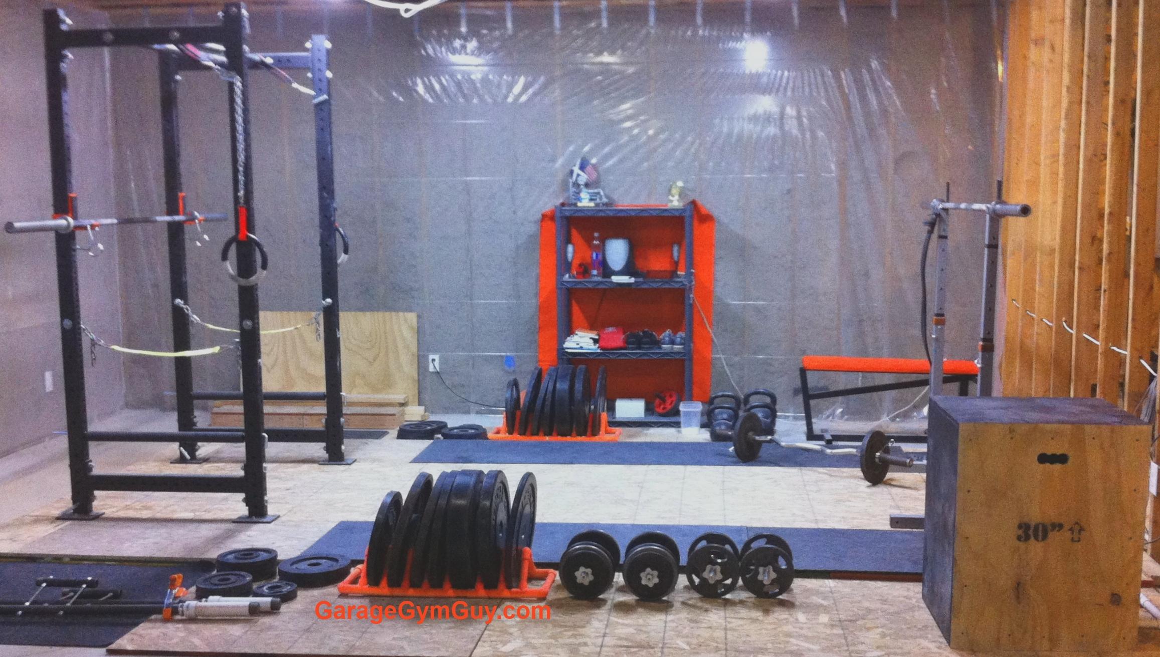 Crossfit garage gym guy