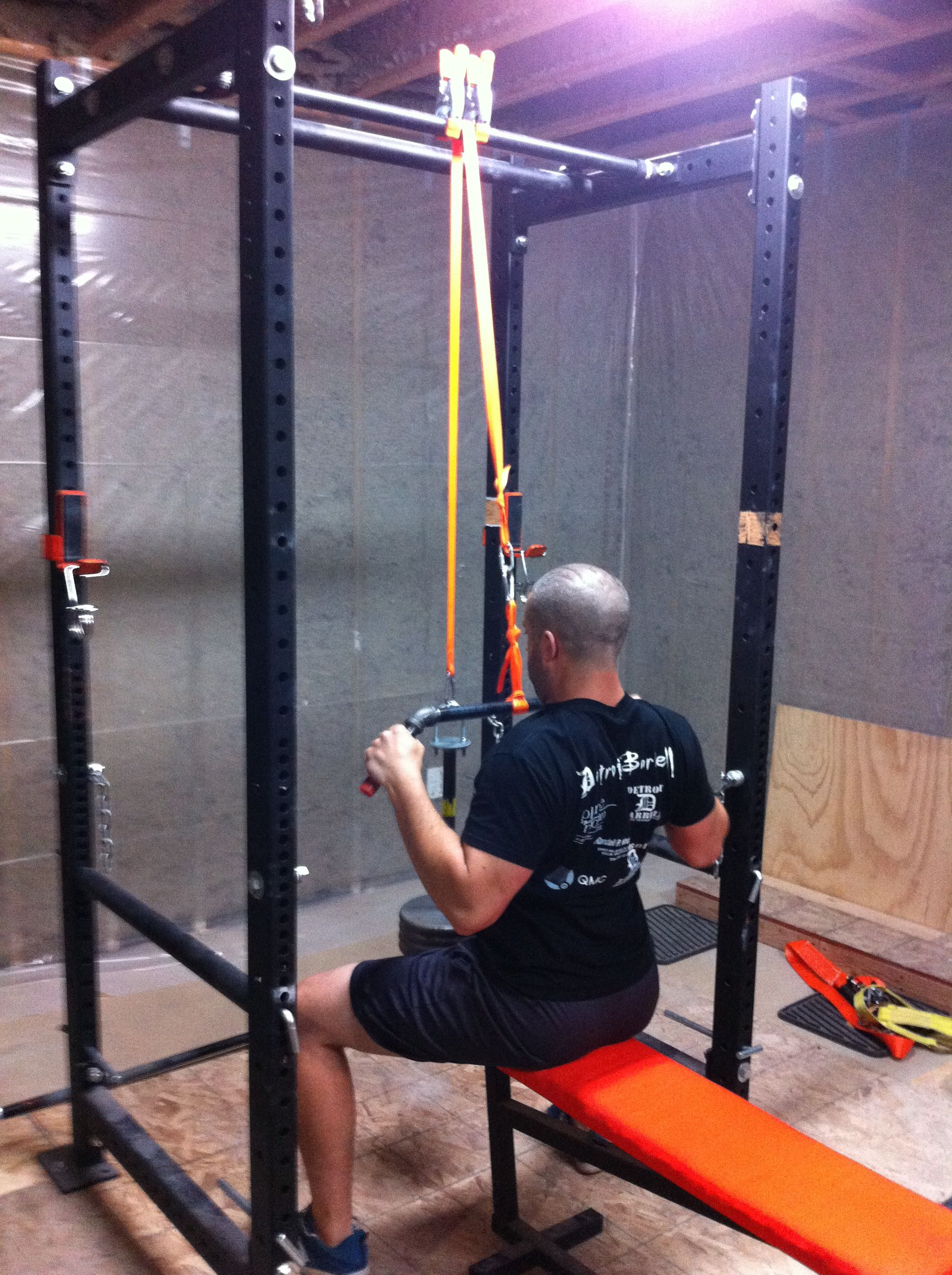 Homemade power rack with lat pulldown ftempo