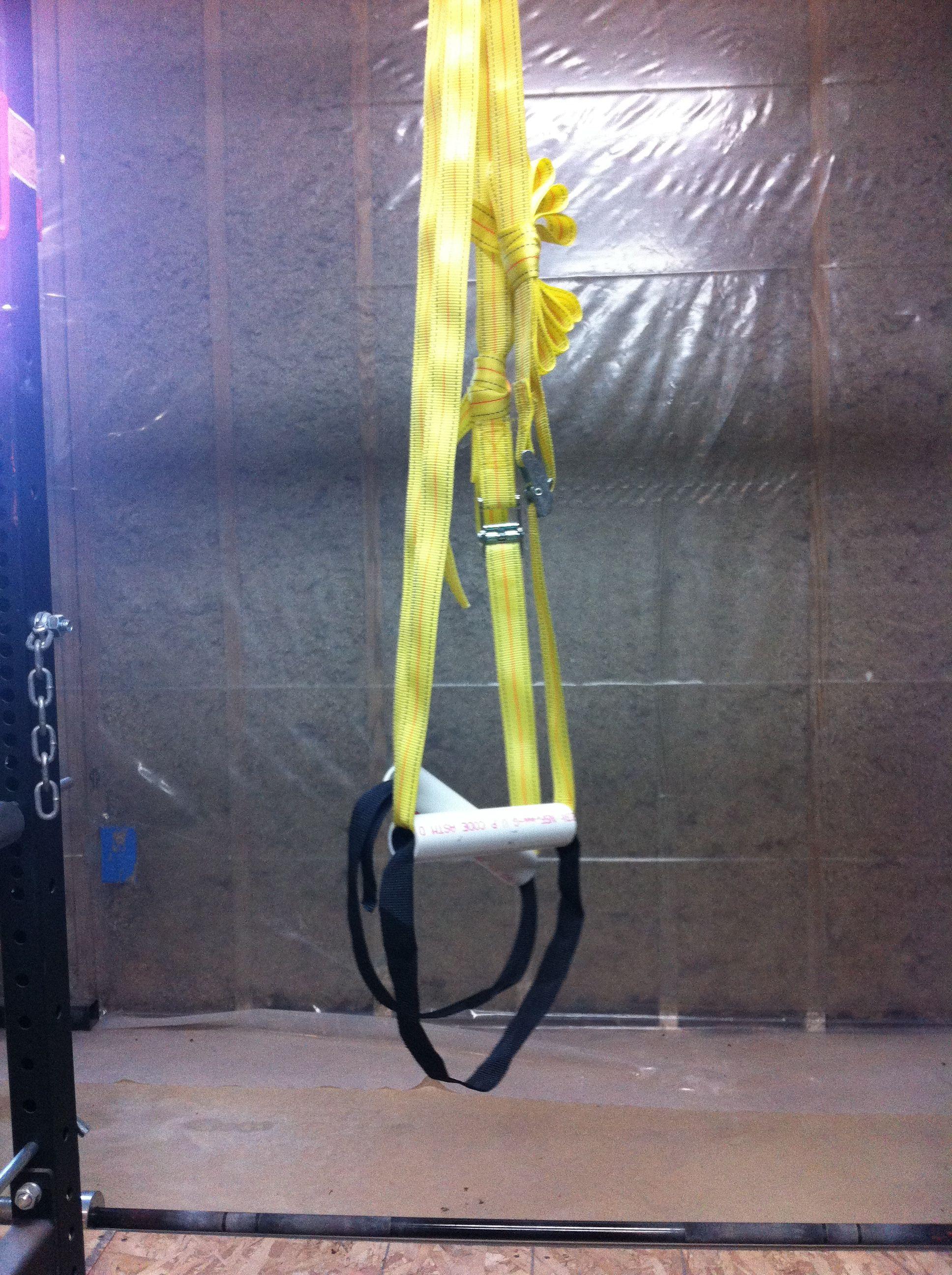 diy suspension straps garage gym guy. Black Bedroom Furniture Sets. Home Design Ideas
