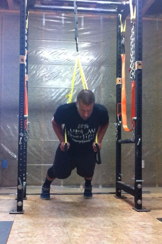 Diy suspension straps garage gym guy