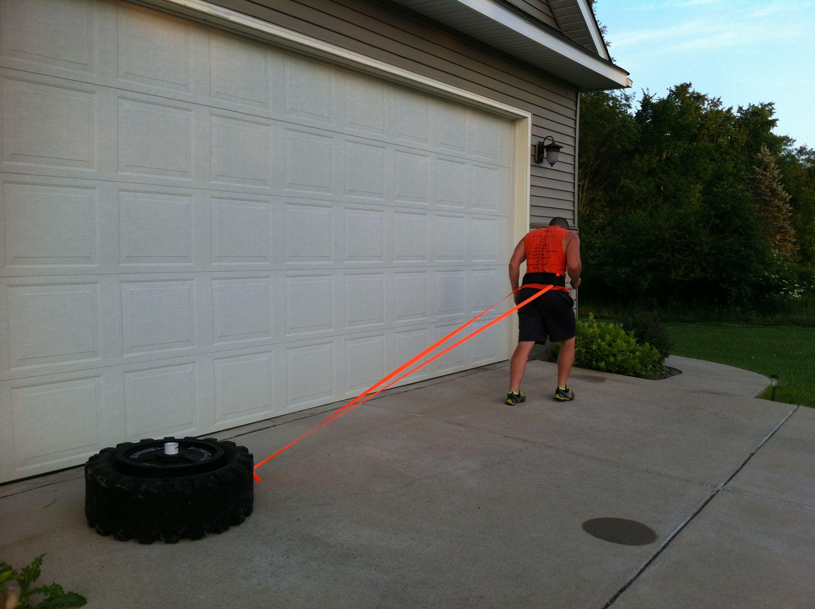 Diy pulling sled garage gym guy