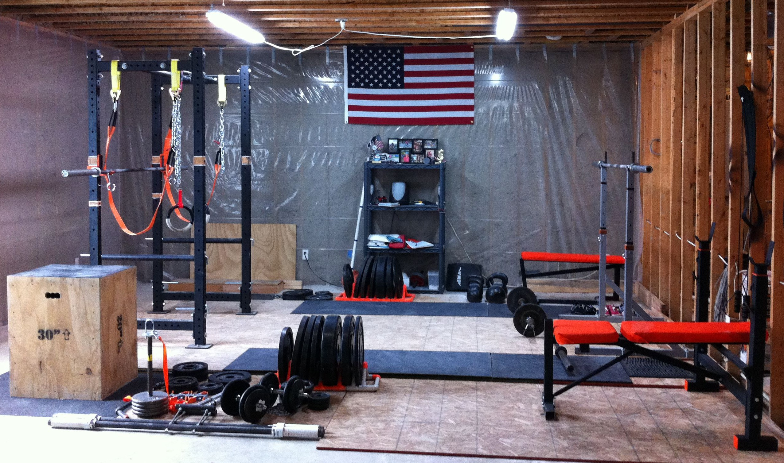 Home gym garage guy
