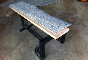 Bench with Carpet PaddingBench with Carpet Padding