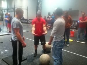 Garage Gym Guy Lifting Stones with Rob Orlando