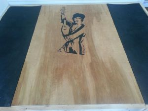 Bruce Lee Graphic on Ryan's Lifting Platform