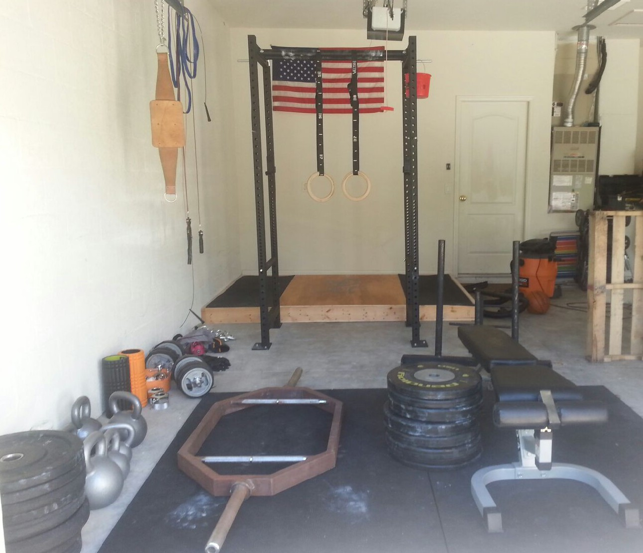 single car garage workshop ideas - Garage Gym Guy