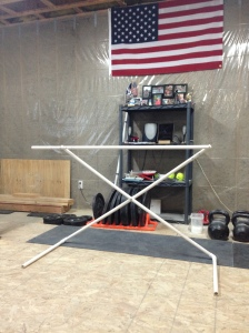 DIY Adjustable PVC Hurdle