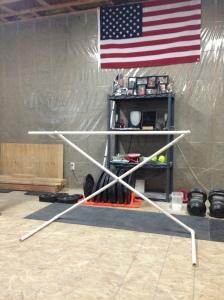 DIY Adjustable PVC Hurdle